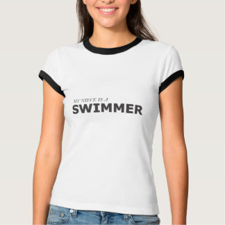MY NIECE IS A SWIMMER/GYNECOLOGIC-OVARIAN CANCER T-Shirt