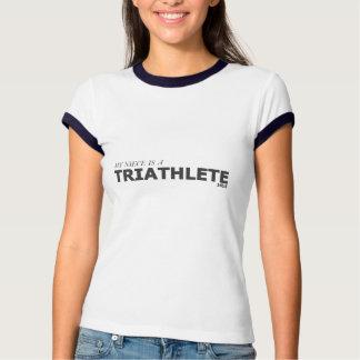 MY NIECE IS A TRIATHLETE 140.6/GYNECOLOGIC-OVARIAN TSHIRTS