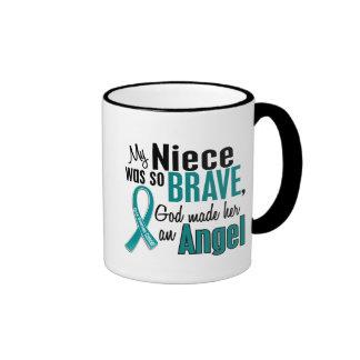 My Niece Is An Angel 1 Ovarian Cancer Coffee Mug