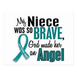 My Niece Is An Angel 1 Ovarian Cancer Postcard
