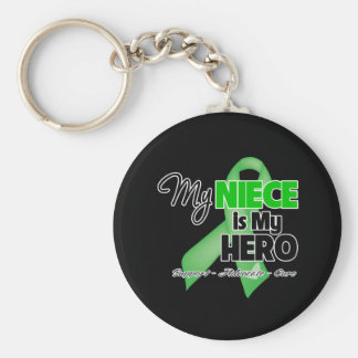 My Niece is My Hero - Kidney Cancer Basic Round Button Key Ring