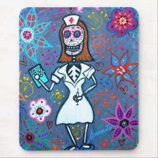 My No.1 Nurse Day of the Dead Mouse Mat