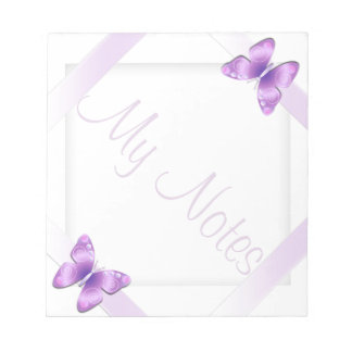 My Notes Girly Lavender Butterfly