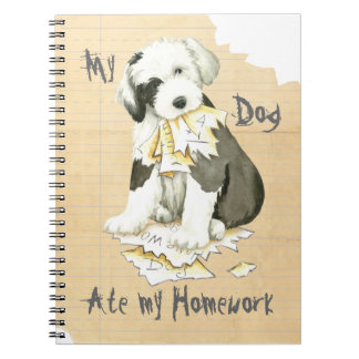 My Old English Sheepdog Ate My Homework Note Book