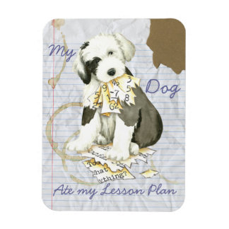 My Old English Sheepdog Ate my Lesson Plan Magnet