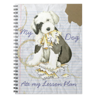 My Old English Sheepdog Ate my Lesson Plan Spiral Notebooks