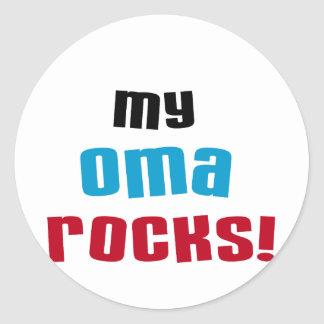 My Oma Rocks T-shirts and Gifts Round Sticker