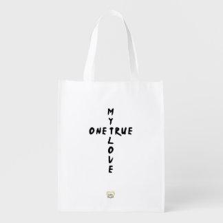 My One True Love Cross Reusable Shopping Bag