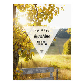 My Only Sunshine Inspirational Postcard