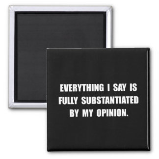 My Opinion Square Magnet