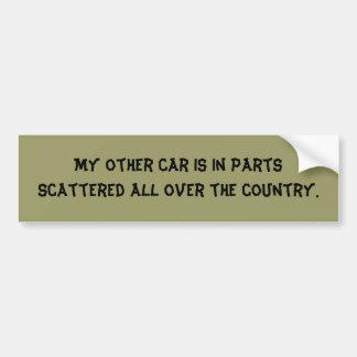 my-other-car-08 bumper sticker