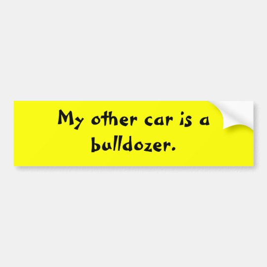 my-other-car-12 bumper sticker