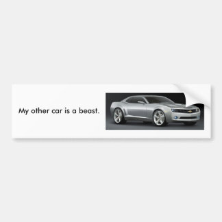 My other car is a beast./Silver Bumper Sticker