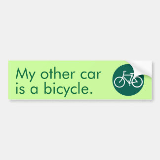 My other car is a bicycle. bumper sticker