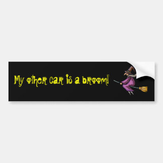 My other car is a broom! bumper sticker