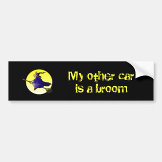 My other car is a broom bumper sticker