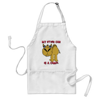 My Other Car is a Camel Schnozzle Cartoon Adult Apron