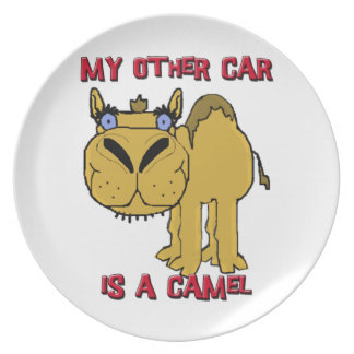 My Other Car is a Camel Schnozzle Cartoon Dinner Plate