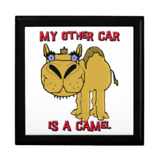 My Other Car is a Camel Schnozzle Cartoon Jewelry Box