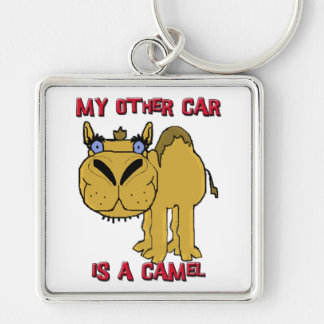 My Other Car is a Camel Schnozzle Cartoon Silver-Colored Square Key Ring