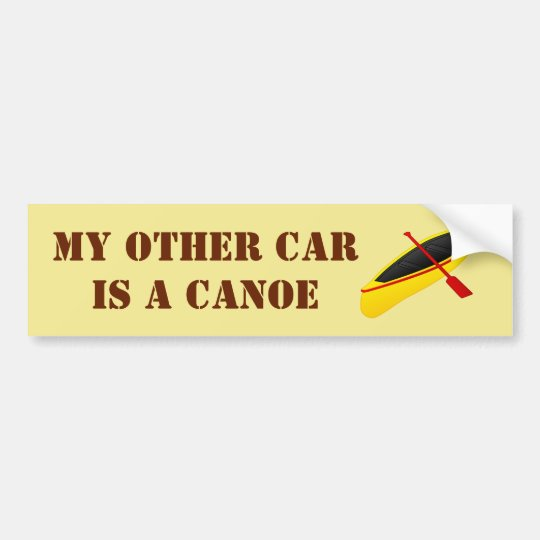 My Other Car is a Canoe Bumper Sticker