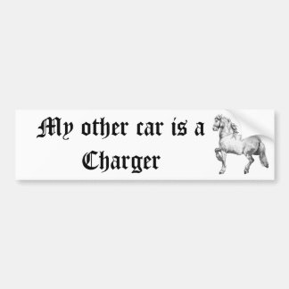 My other car is a Charger Bumper Sticker