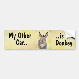 My Other Car is a Donkey bumper sticker