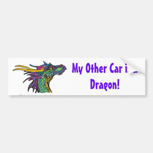 My Other Car is a Dragon Bumper Stickers