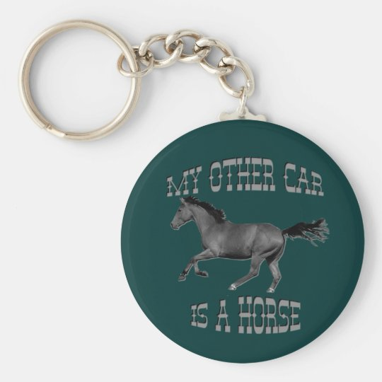 My Other Car Is A Horse Basic Round Button Key Ring
