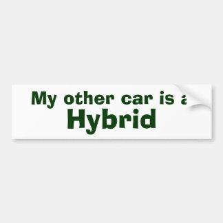 My other car is a , Hybrid Bumper Sticker