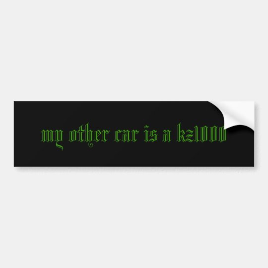 my other car is a kz1000 bumper sticker