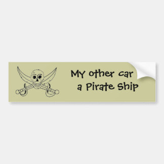 My other car is a Pirate Ship Bumper Sticker