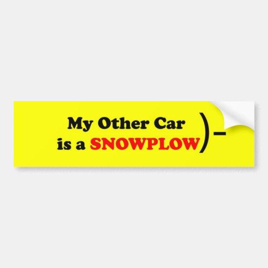 My other car is a SNOWPLOW Bumper Sticker