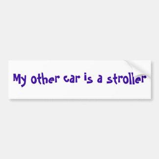My other car is a stroller bumper sticker