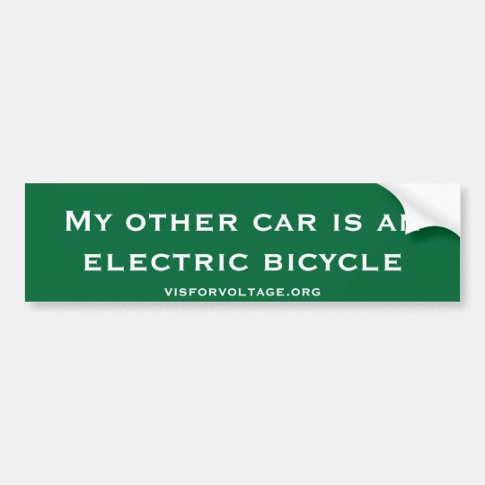 My other car is an electric bicycle bumper