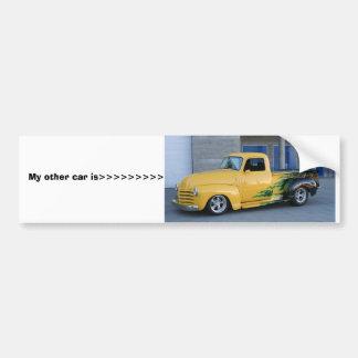 My other car is>>>>>>>>> car bumper sticker