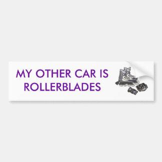 my other car is rollerblades bumper sticker