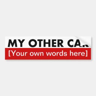 my-other-car-template-02 bumper sticker
