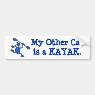My other car's a kayak bumper sticker