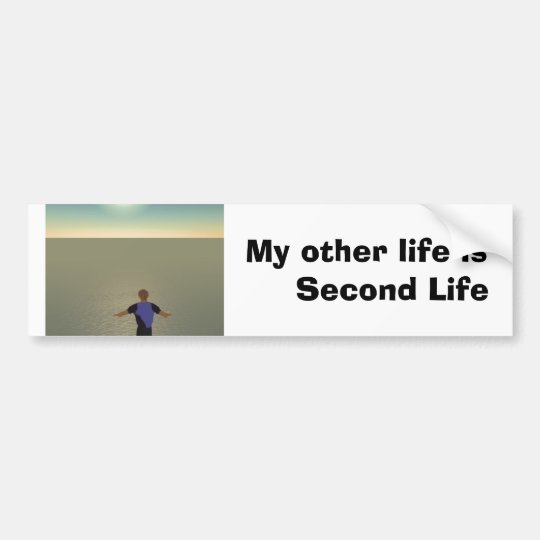 My other life is Second Life Bumper Sticker