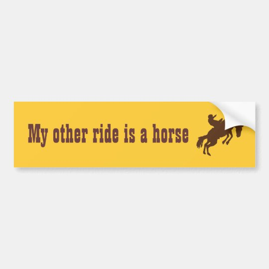 My other ride is a horse bumper sticker