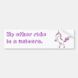 Pink Unicorn Bumper Stickers Amp Car Stickers Zazzle Uk