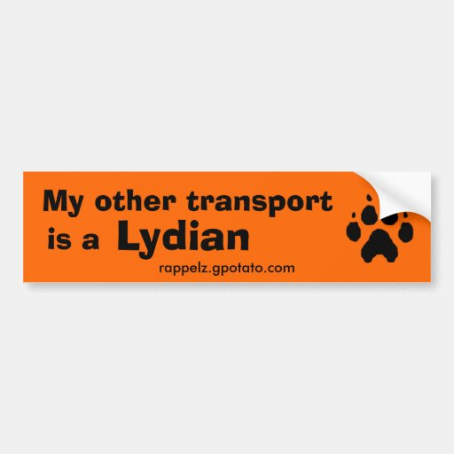 My other transport is a Lydian Bumper Sticker
