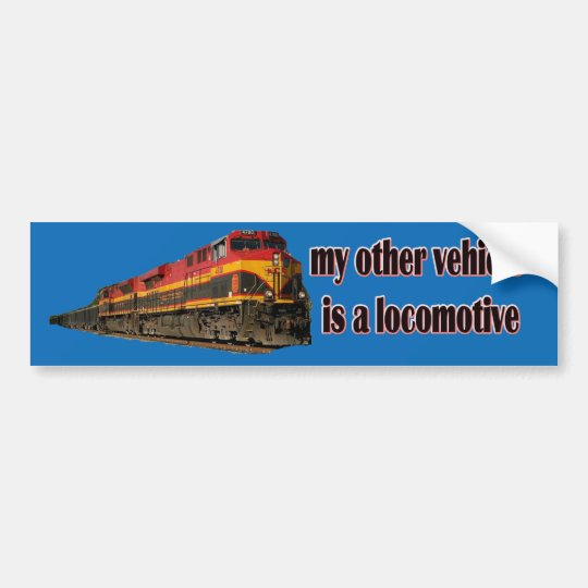 My Other Vehicle Is a Locomotive KCS Bumper Sticker