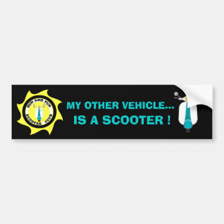 MY OTHER VEHICLE IS A SCOOTER... BUMPER STICKER