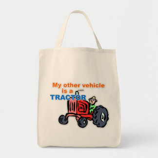 """My Other Vehicle is a Tractor"" Tote Bag"