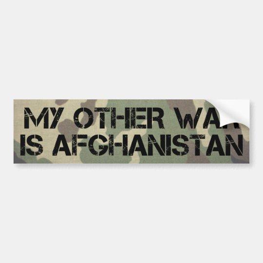 My Other War is Afghanistan Bumper Sticker
