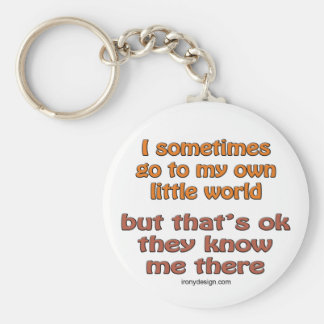 My Own Little World Basic Round Button Key Ring