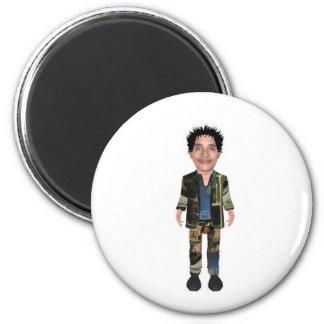 my own logo devises printed paper 6 cm round magnet