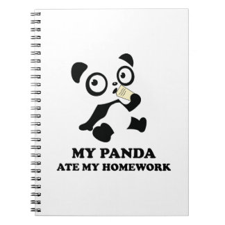 My Panda Ate My Homework Notebook